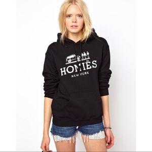 NWOT - Oversize Homies Paris Hoodie Black, Reason